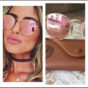 Pink lens Ray-ban sunglasses